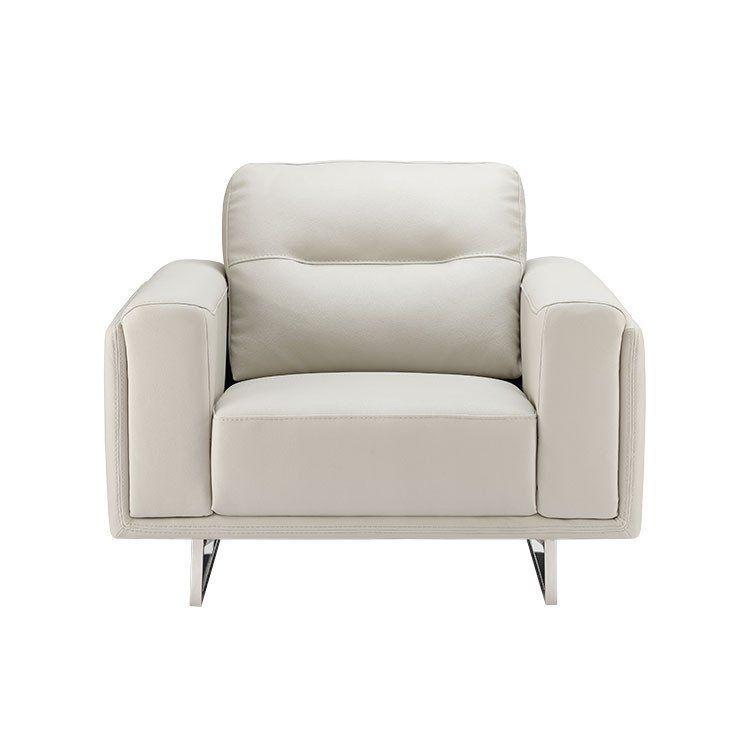 Grey Leather Chair Modern Living Room, Dania Furniture Tukwila