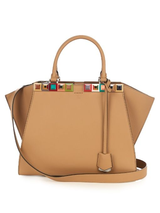 Fendi 3Jours embellished leather tote