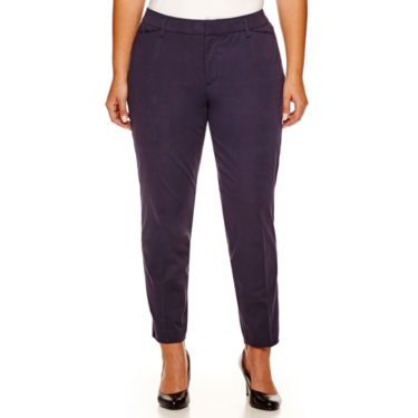 dacbcf17090 Stylus™ Crossover Ankle Pants - Plus - JCPenney
