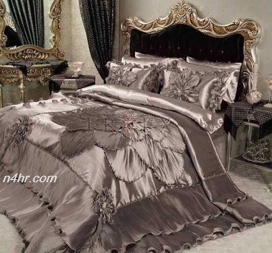 أجمل مفارش العروسة 2015 احدث مفارش غرف نوم 2016 مفروشات مودرن لـ سرير نوم 2016 Luxury Bedding Bedroom Design Luxury Master Bedroom Design
