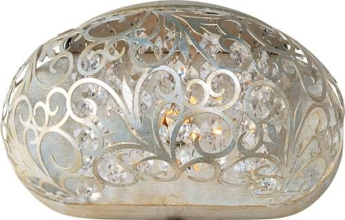 Maxim Lighting 24158BCGS Maxim 24158BCGS Arabesque 1-Light Sconce in Golden Silver with Beveled Crystal glass.