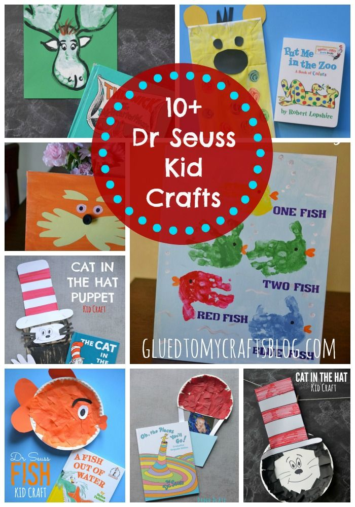 10 Dr Seuss Kid Craft Roundup Dr Seuss Crafts Dr Seuss