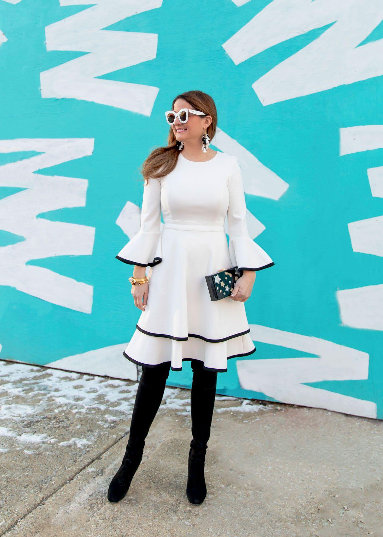 db996bb7c04e Eliza J White Dress Black Trim   Stylist's Picks in 2019   Bell ...