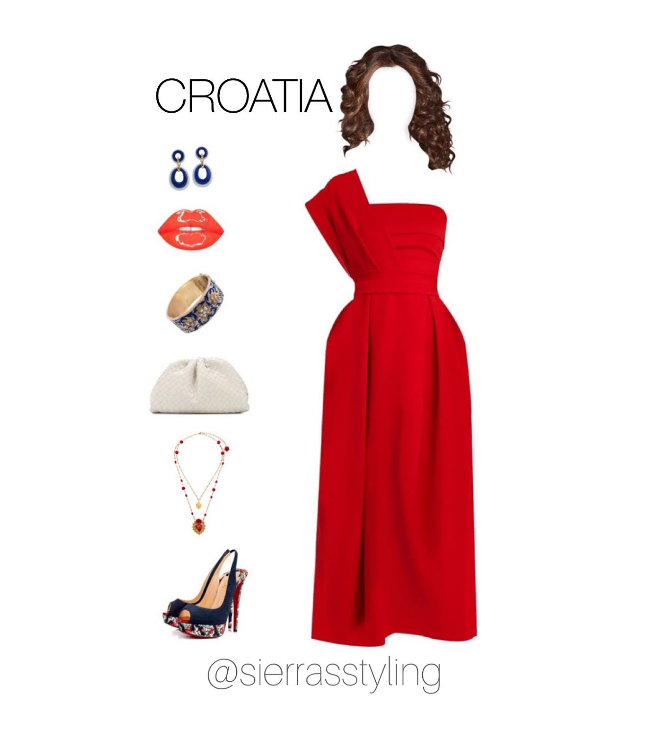 Croatia Dress With Accessories In 2020 Virtual Fashion Dresses Red Dress
