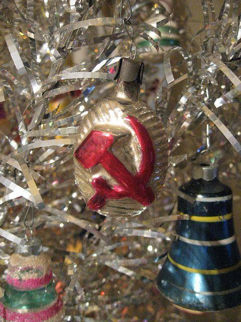 Hammer & Sickle Vintage Soviet Christmas ornament - Hammer & Sickle Vintage Soviet Christmas Ornament Christmas Past