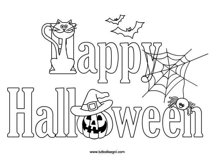 disegni da colorare halloween e da stampare