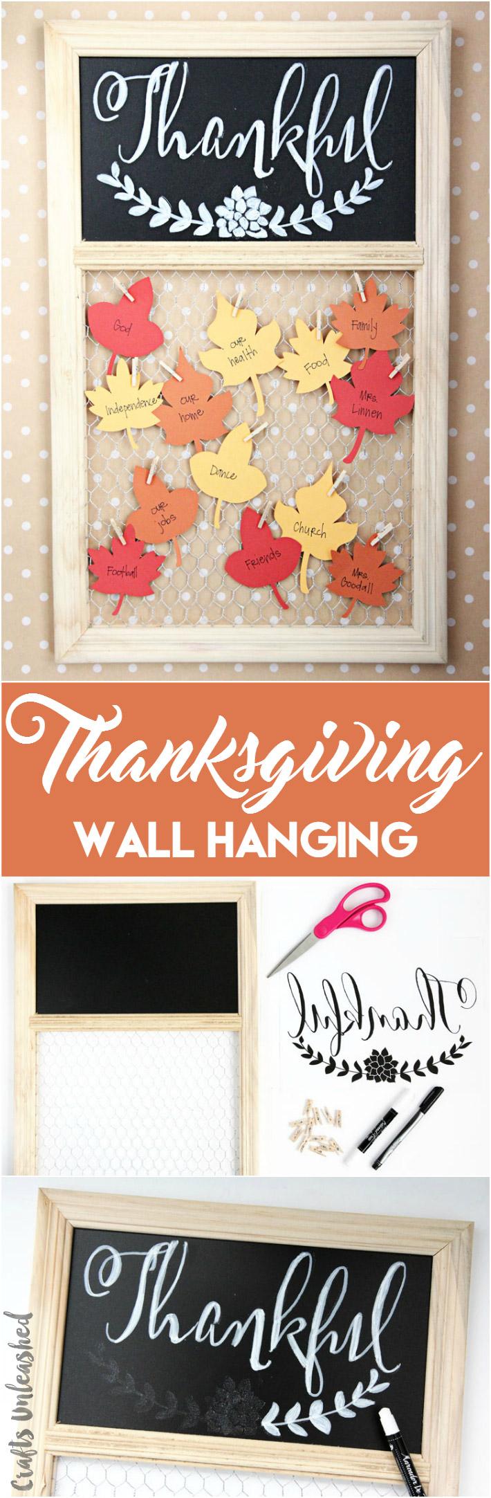 DIY Thanksgiving Project Thankful Wall Display Consumer