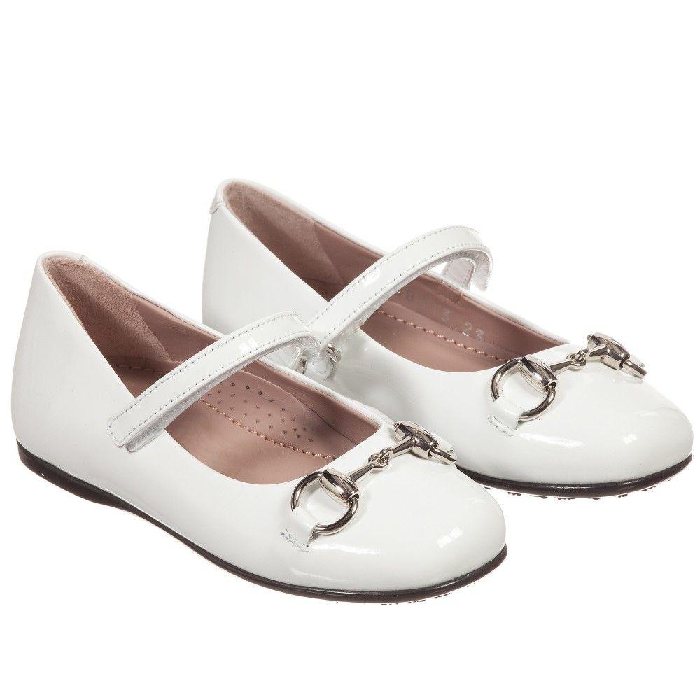 79fbc7a3e210 Girls White Patent Leather Shoes