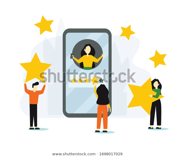Group People Leaving Five Star Rating Stock Vector Royalty Free 1698017029 Vector Stock Vector Vector Illustration