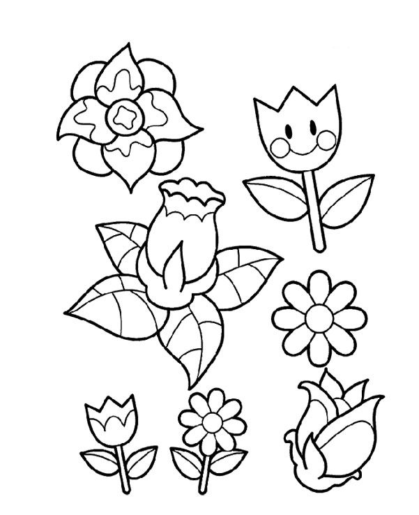 Beautiful Spring Flowers Coloring Pages | Flower coloring ...