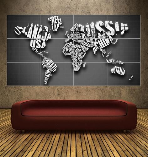 CONTEMPORARY STYLE WORLD MAP - HUGE - POSTER ART PRINT | eBay#vi-content#vi-content#vi-content