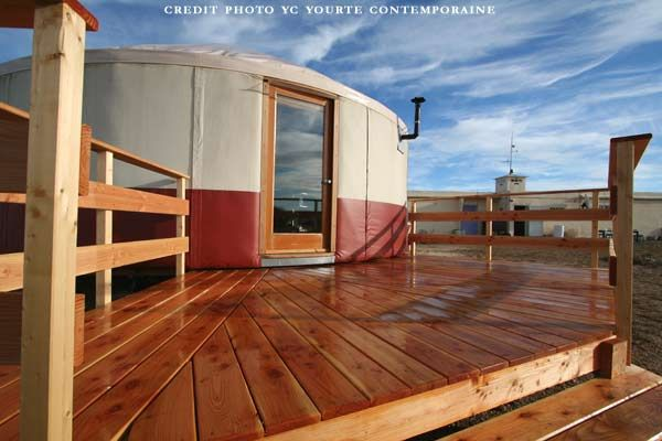 terrasse bois yourte id maison yourte pinterest house. Black Bedroom Furniture Sets. Home Design Ideas