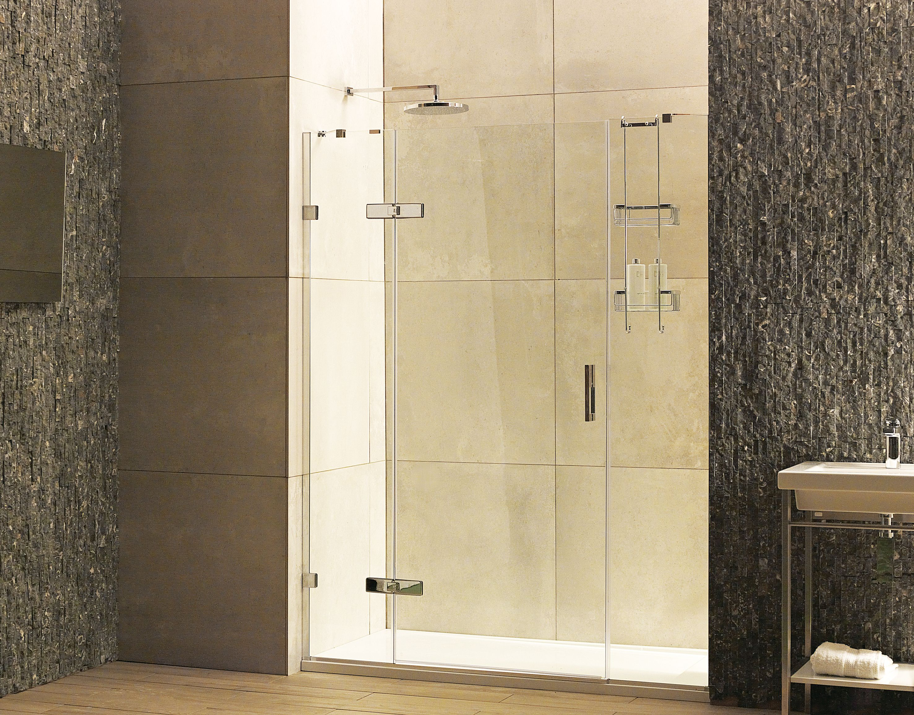 Frameless 8mm Hinged Door Shower Enclosure Bathroomideas