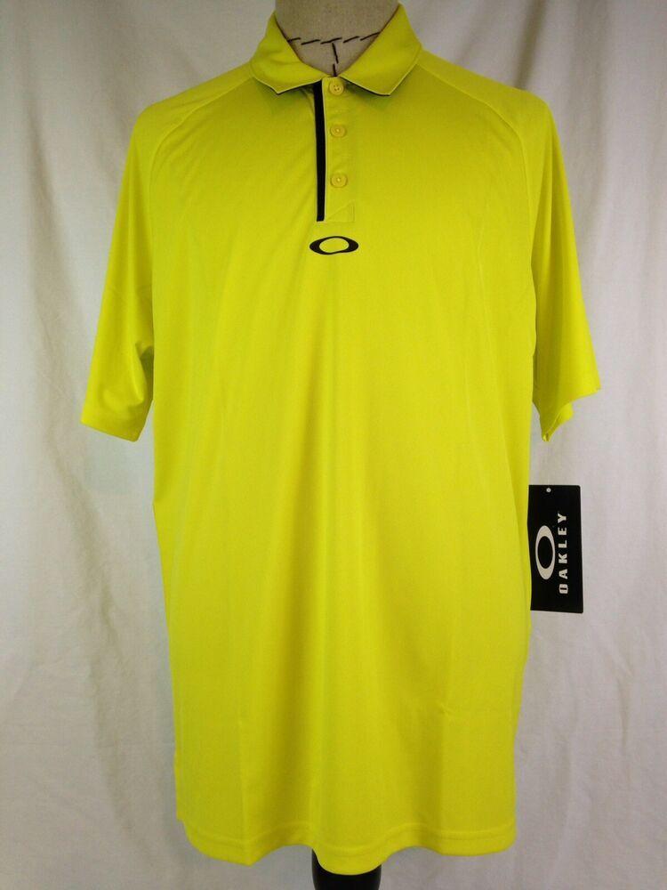 4a8e380250337 Oakley Elemental 2.0 Mens Polo Shirt XL Size Hydrolix Yellow 432632 New  #Oakley #PoloRugby