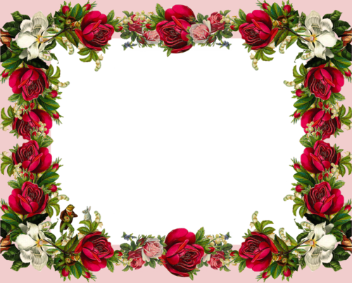 Rose Flower Frame Hd Wallpaper And Free Download Wallpaper Flower Frame Rose Frame Flower Frame Png