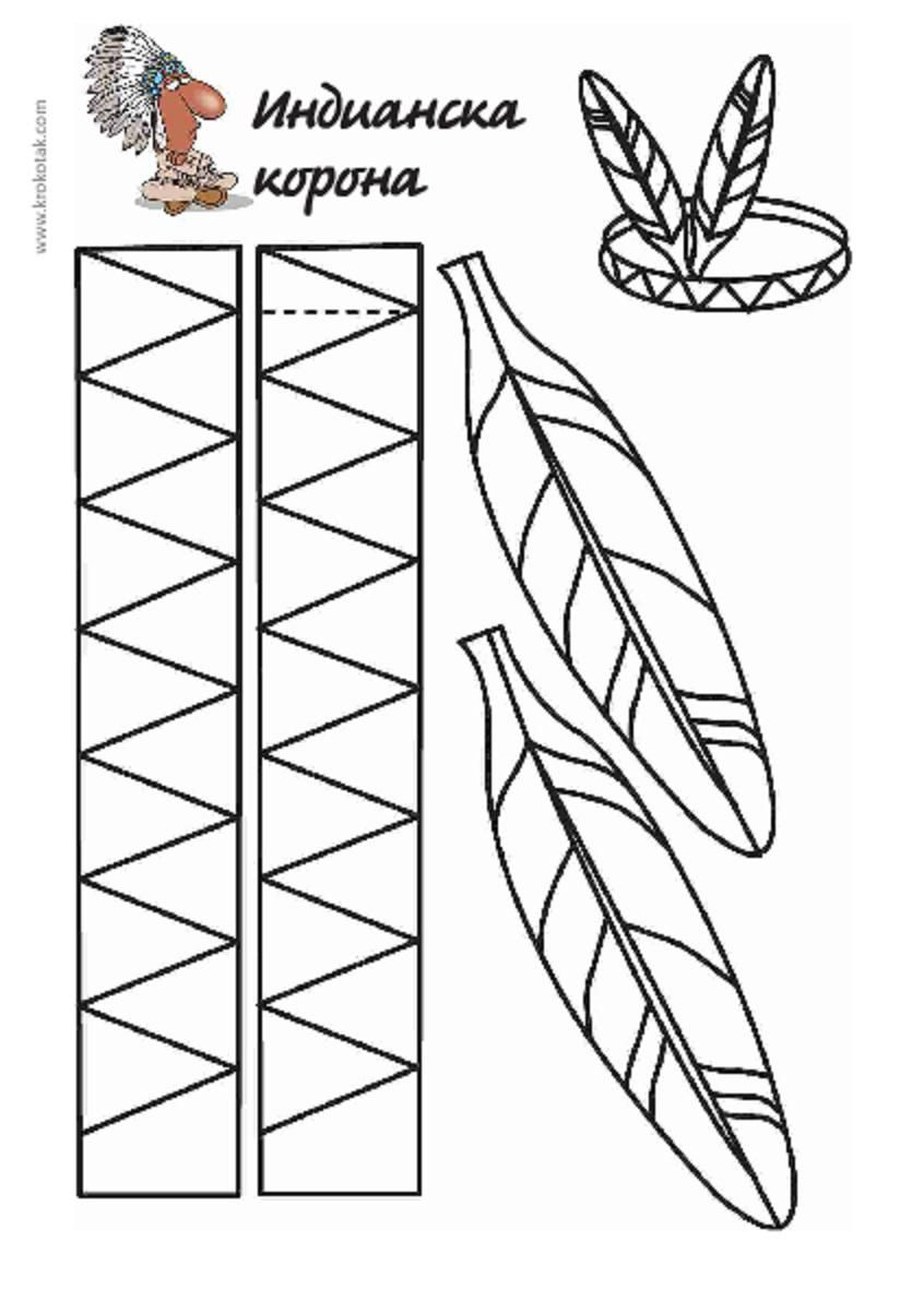 Native American Feather Headband to Cut & Color | NATIVE AMERICAN ...