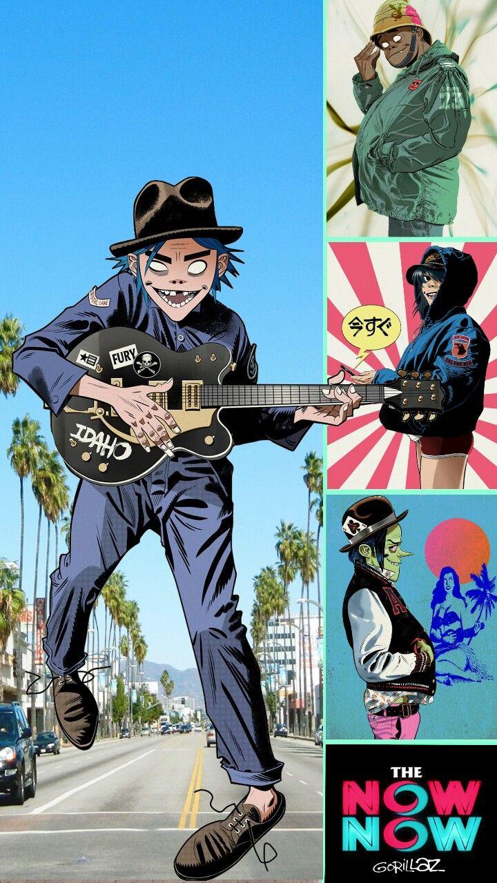 The Now Now Phone Wallpaper Gorillaz art, Gorillaz