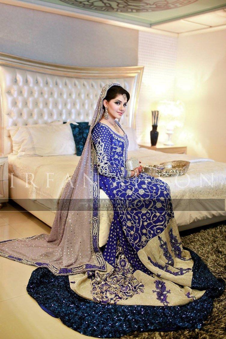 ae1855a11 Top 5 blue Pakistani bridal dress 2016