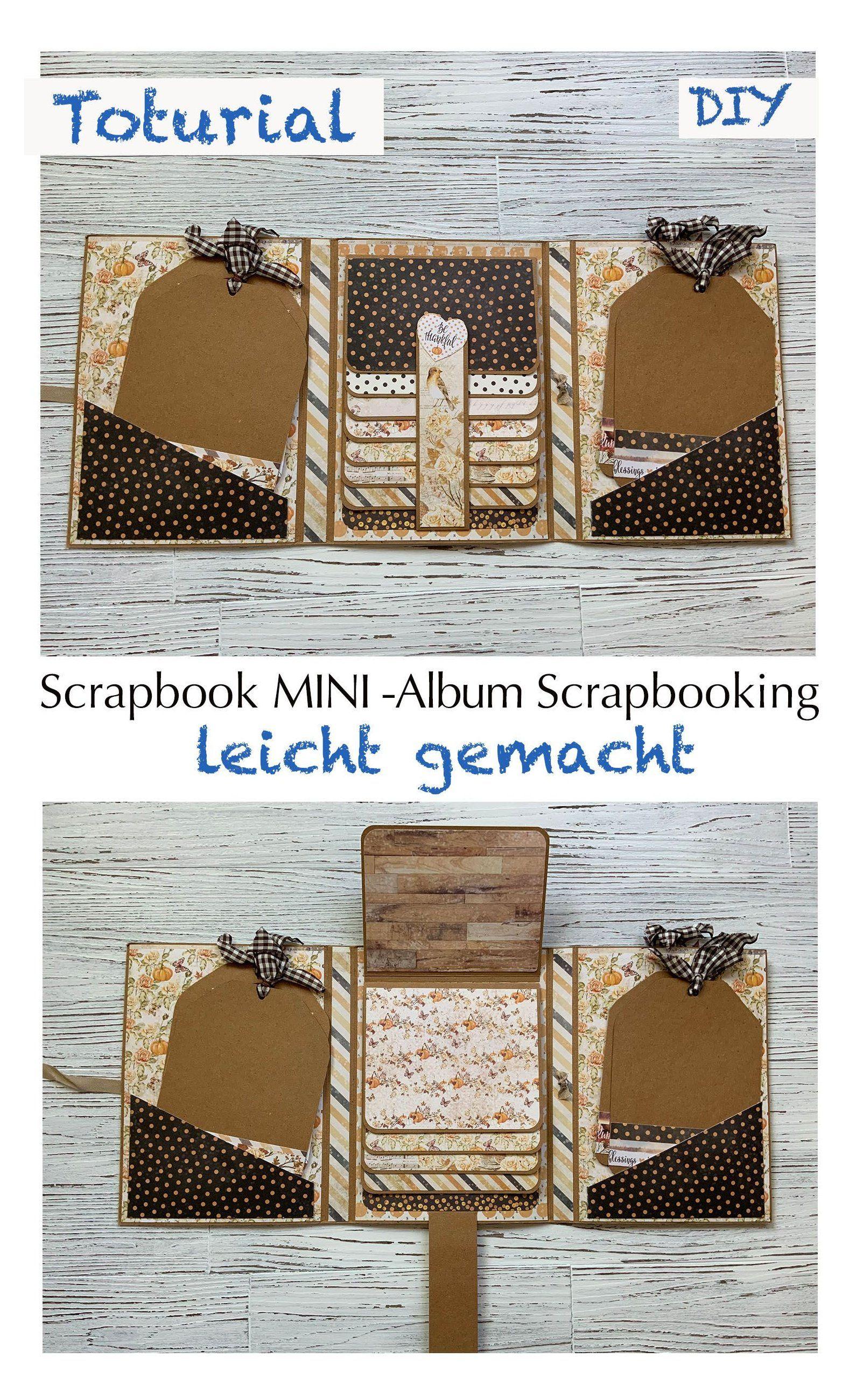 Photo Album Christmas Photo Album Brag Book Tri-fold Album Christmas Present Scrapbook Mini Scrapbook