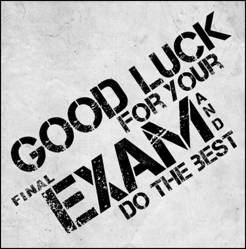 Image result for good luck exams