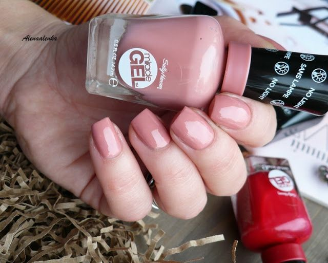 Sally Hansen Miracle Gel #244 Mauve-Olous, #444 Off With Her Red ...