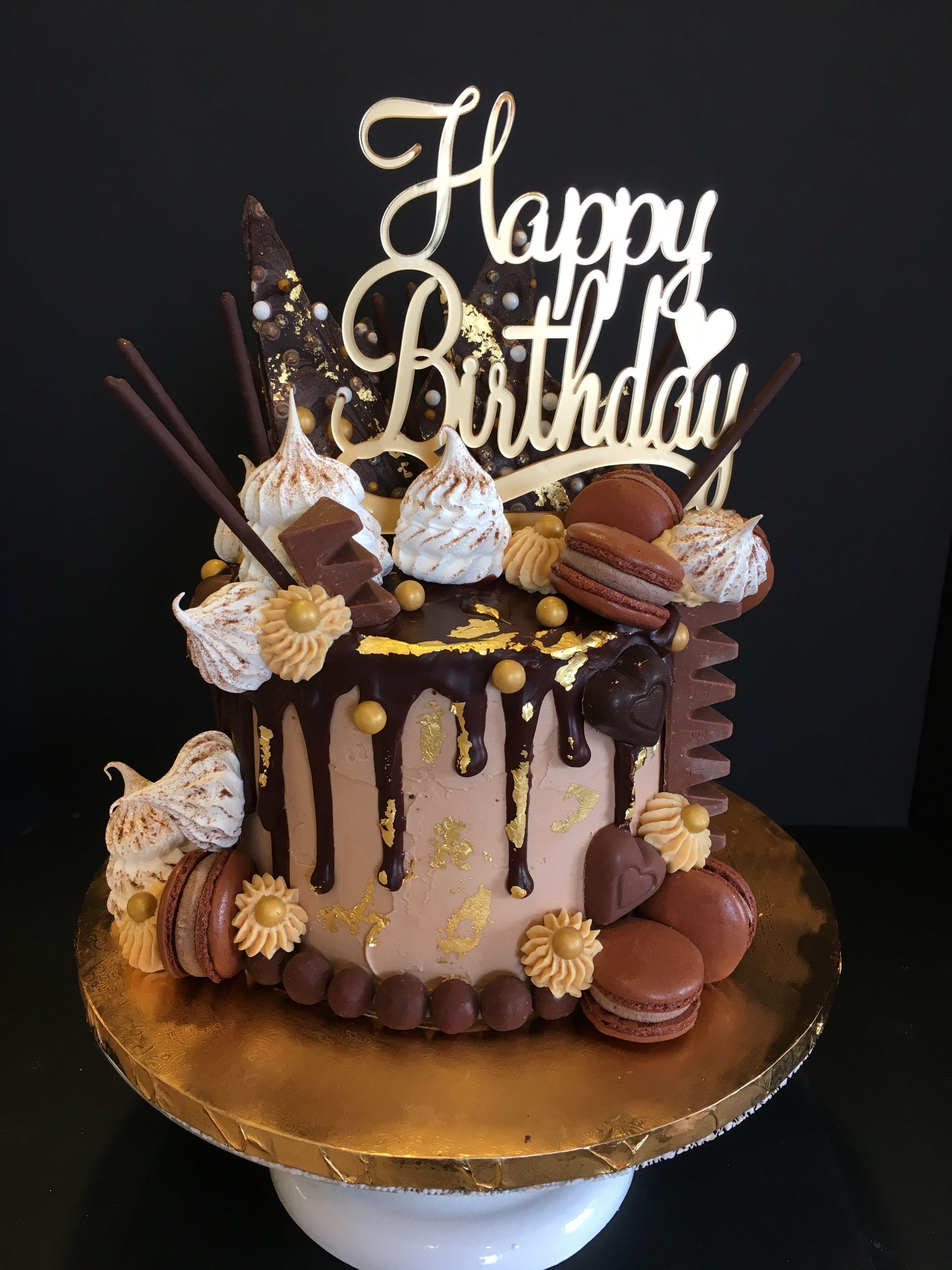 Torta de chocolate in 2020   Birthday cake chocolate ...