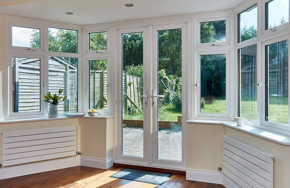 Image Result For Bay Window With French Doors Kitchen Pinterest