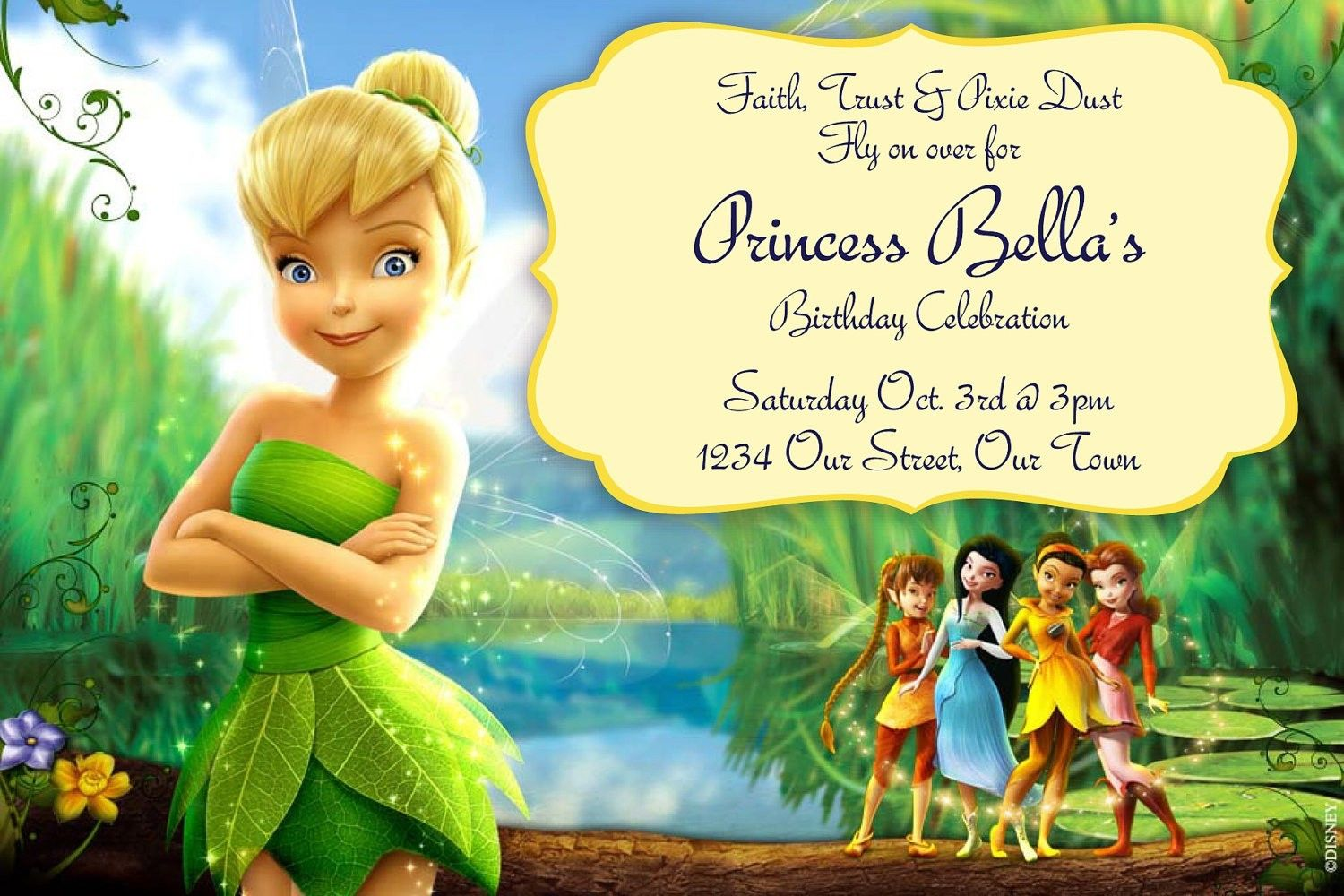 Free Tinkerbell Birthday Invitation Templates
