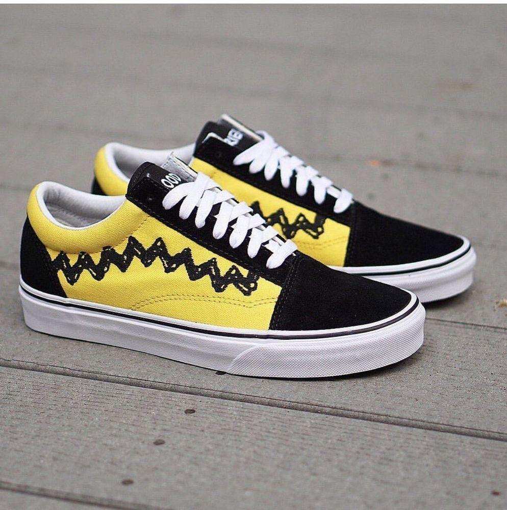 Vans Old Skool Peanuts Charlie Brown Good Grief Sneakers