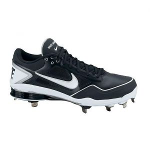 new product 39111 f5b31 Mens Nike Shox Gamer Baseball Cleats Black Leather - ONLY  104.99