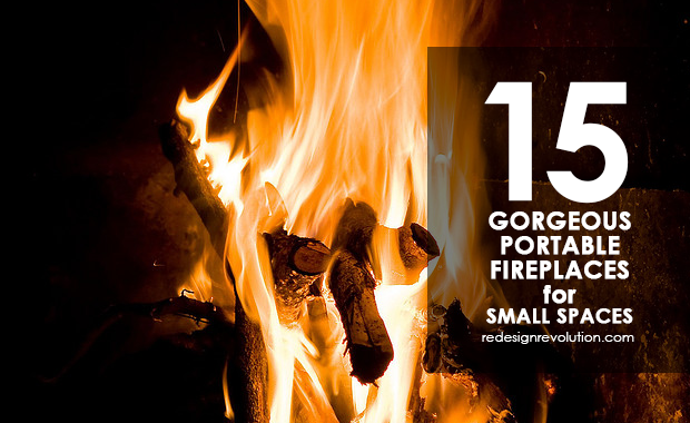 Urban dwellers often lack the space for grand fireplaces. Check out these 15 gorgeous portable fireplaces that could warm any small space!