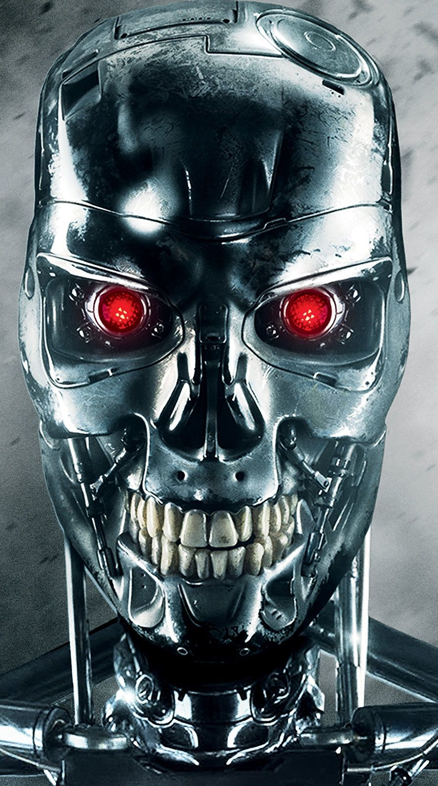 Terminator Genisys 2015 Up Close View Of New Endo Skull Filmes