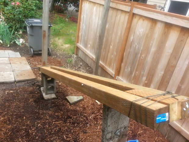 Pull Wooden Fence Posts Set In Concrete With No Digging Backyard Fences Wooden Fence Posts Fence Post