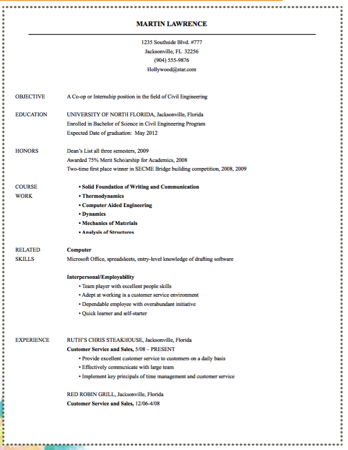 Resume Civil Engineering Samples  HttpExampleresumecvOrg