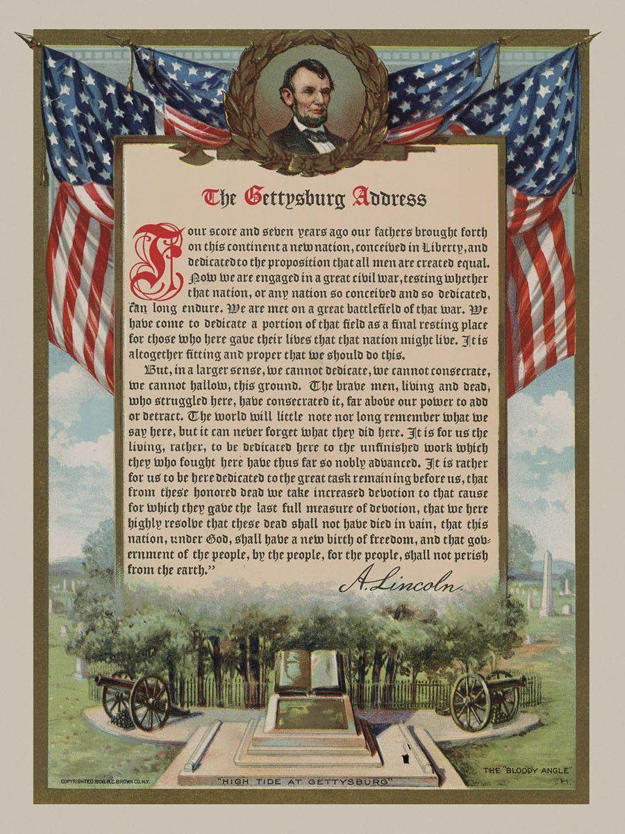 The Gettysburg Address Gettysburg Address Address Art Gettysburg [ 1200 x 900 Pixel ]