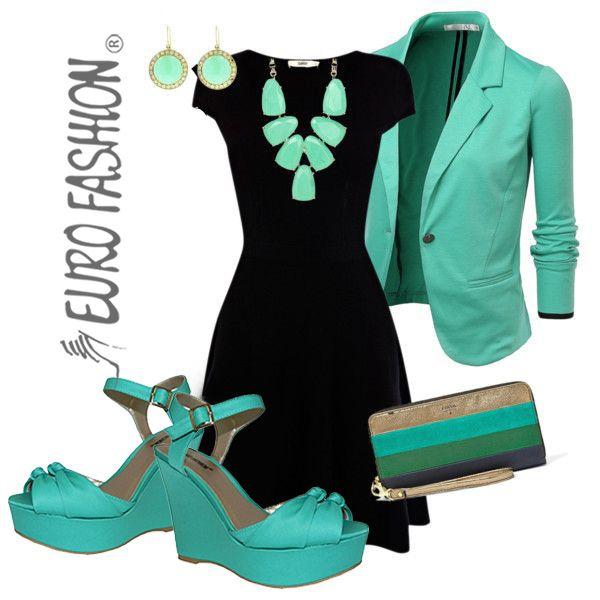 Color de accesorios para vestido negro