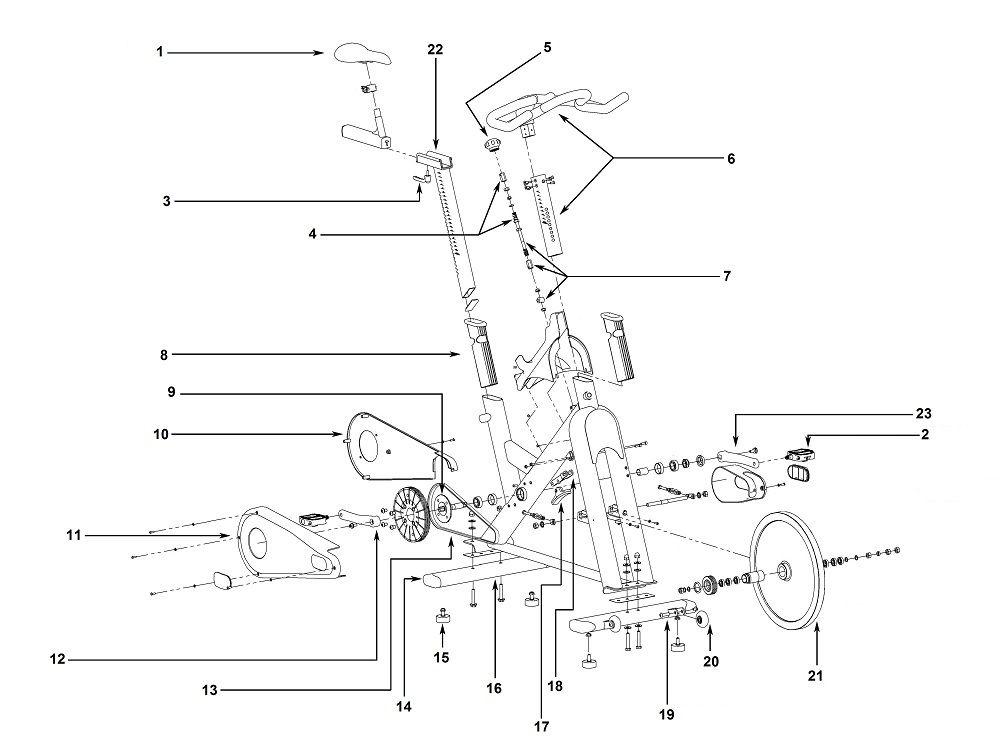 5a008919859b09d5cb34b5e46540f5e6 matrix tomahawk e series exploded diagram exercise bike parts