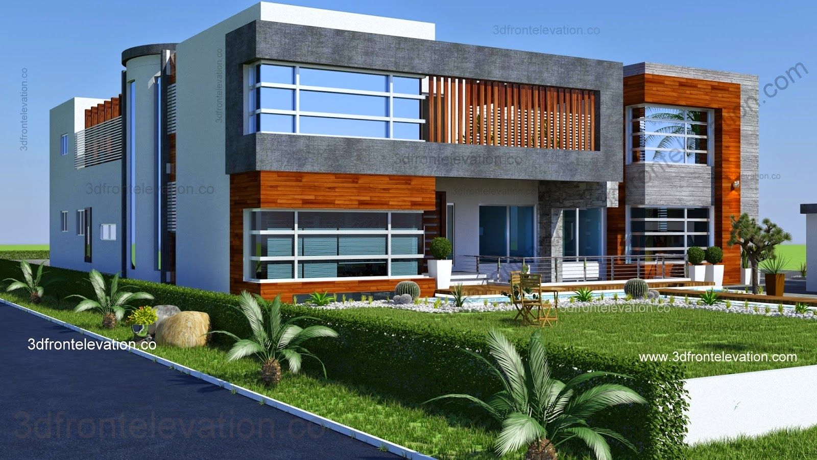 Beautiful 2 Kanal House Plan + 3D Front Elevation