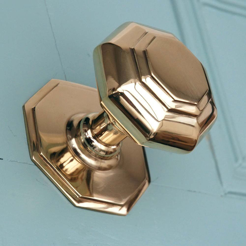 Small Octagonal Brass Door Pull | Hardware | Pinterest | Door pulls ...