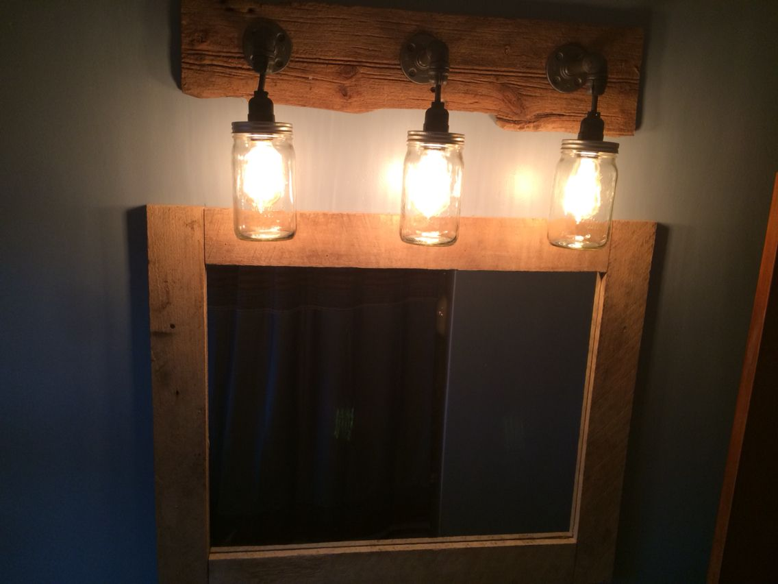 Website Photo Gallery Examples Bathroom mirror u lights mirror is a lowes x framed in barn wood