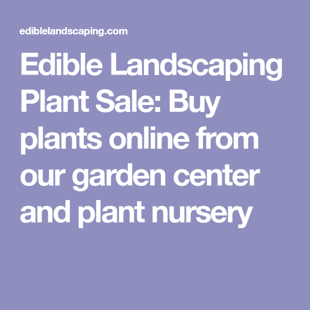Edible Landscaping Plant Plants Online From Our Garden Center And Nursery