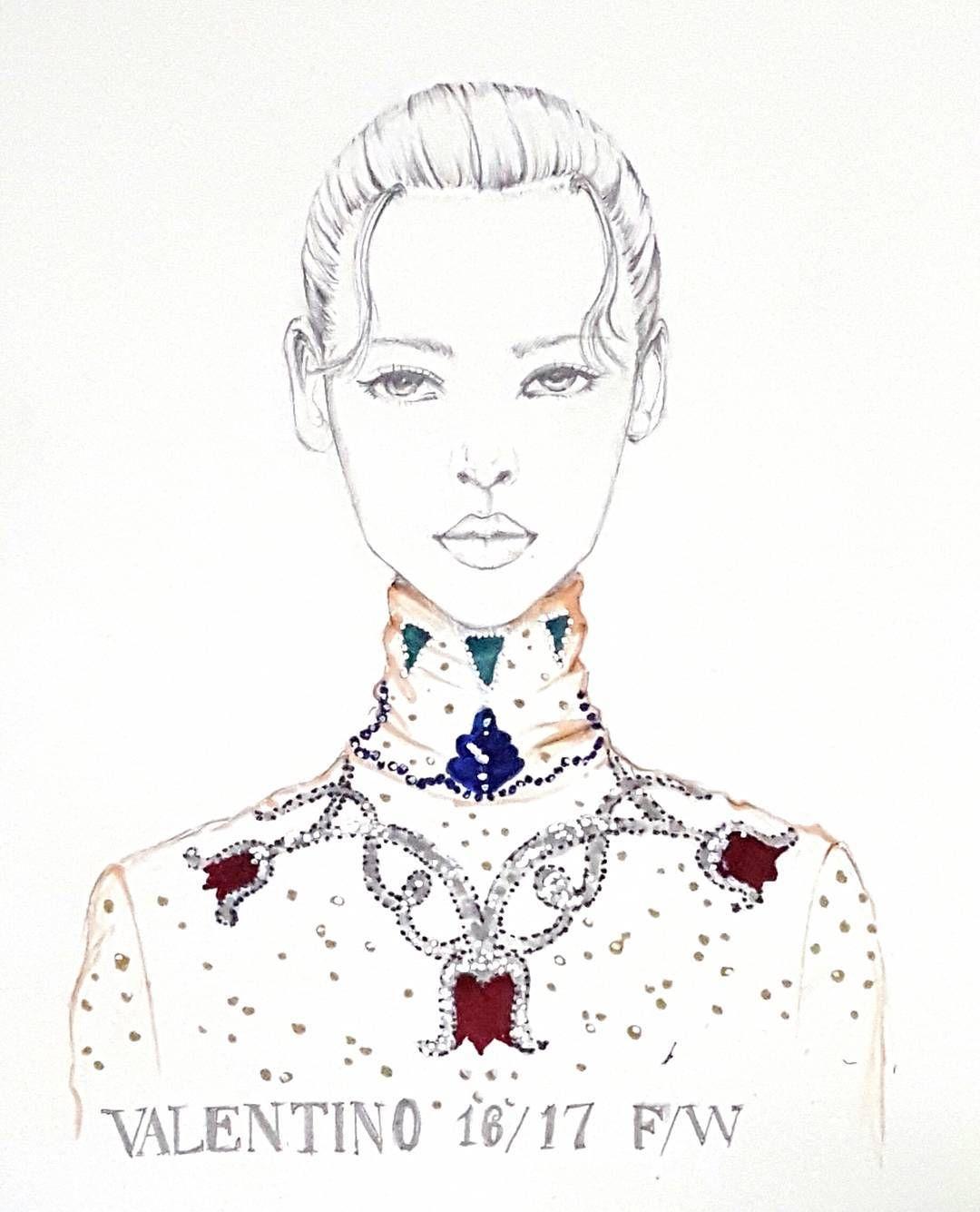 It's weekend!! My new drawing @maisonvalentino 16/17 fw  #fashionillustration #fashionillustrator #fashionshow #pfw16 #valentino #portrait #illustration #mywork #illustrator #fashionsketch #drawing  #girl #moda #model #artist  #vogue #voguemagazine  #패션일러스트 #패션일러스트레이션 #패션일러스트레이터 #패션스케치 #패션쇼 #컬렉션 #발렌티노 #패션디자인