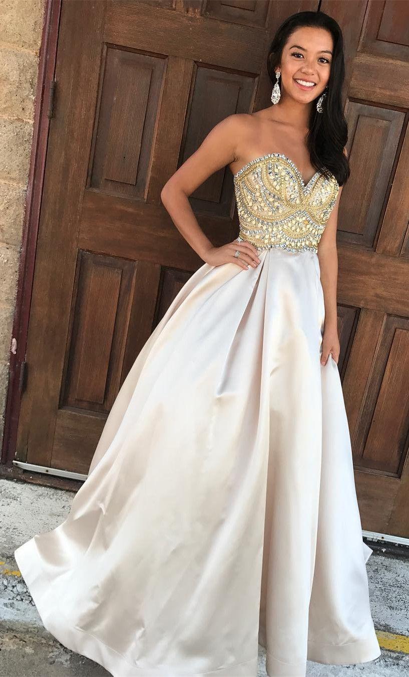 Prom dresses prom dresses long prom dresses sweetheart beads