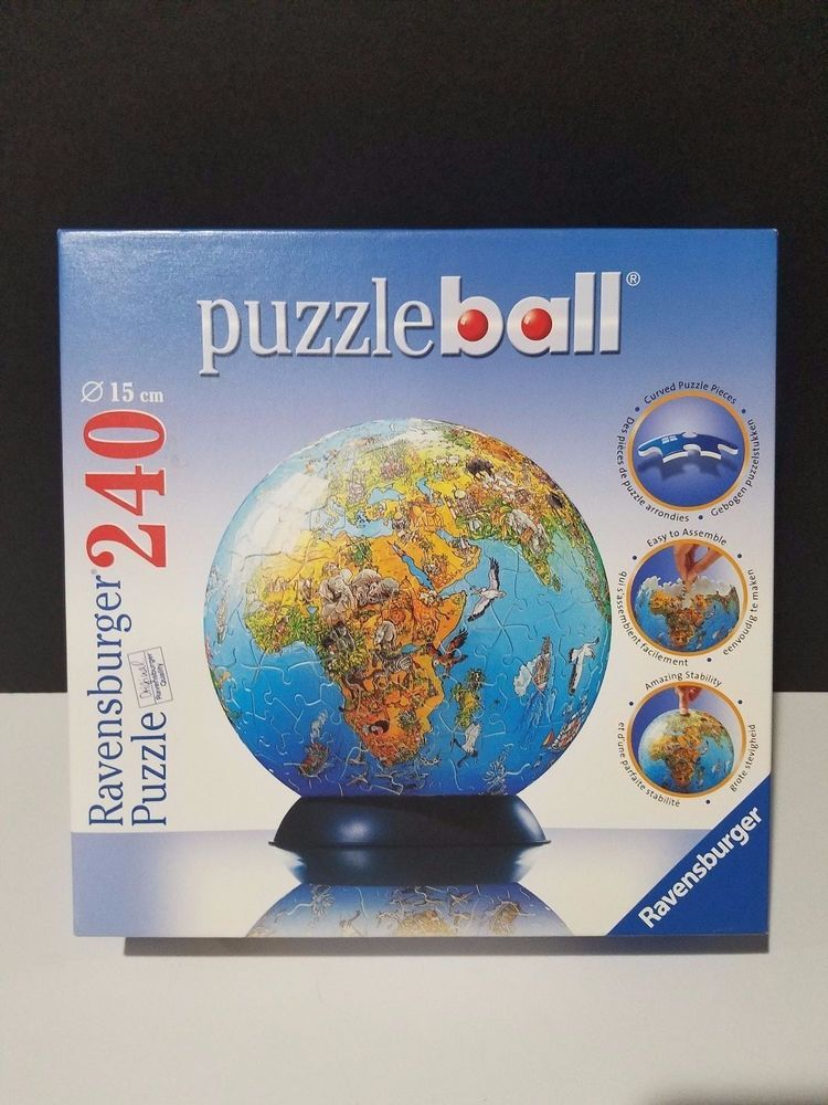 Ravensburger puzzleball 3d world globe jigsaw puzzle 240 pieces explore world globes map globe and more ravensburger puzzleball 3d world globe jigsaw puzzle gumiabroncs