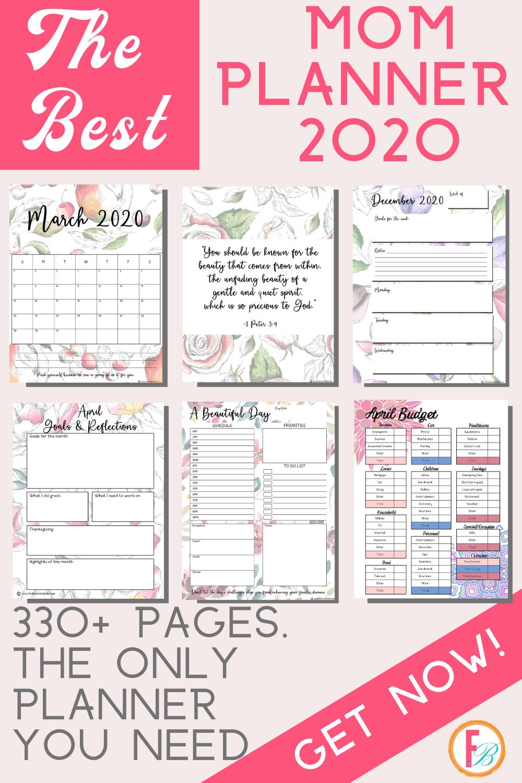 The Best Mom Planner Organizer The Momtastic Planner 2020