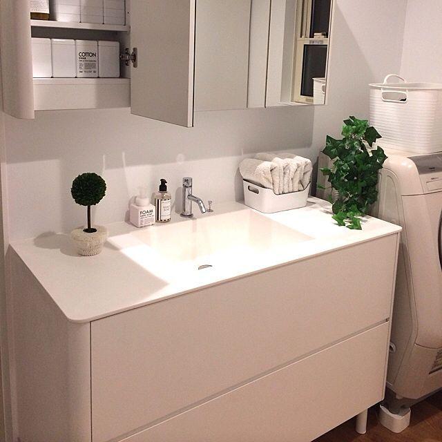 棚 収納 無印 タオル入れ Ikea 洗濯かご ニトリのインテリア実例