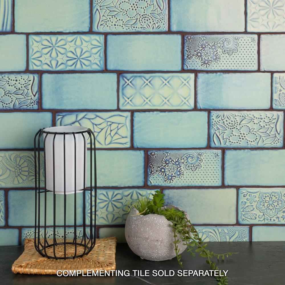 - Merola Tile Antic Sensations Agua Marina 3 In. X 6 In. Ceramic