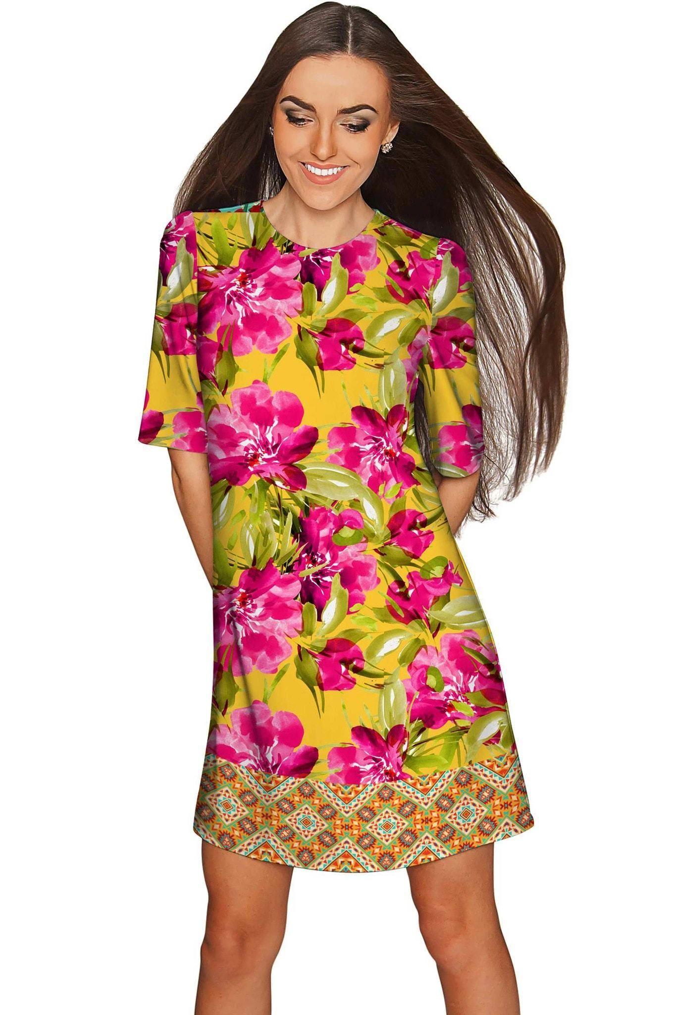 Indian Summer Grace Sleeved Floral Shift Dress Women Womens Shift Dresses Floral Shift Dress Shift Dress [ 2048 x 1365 Pixel ]