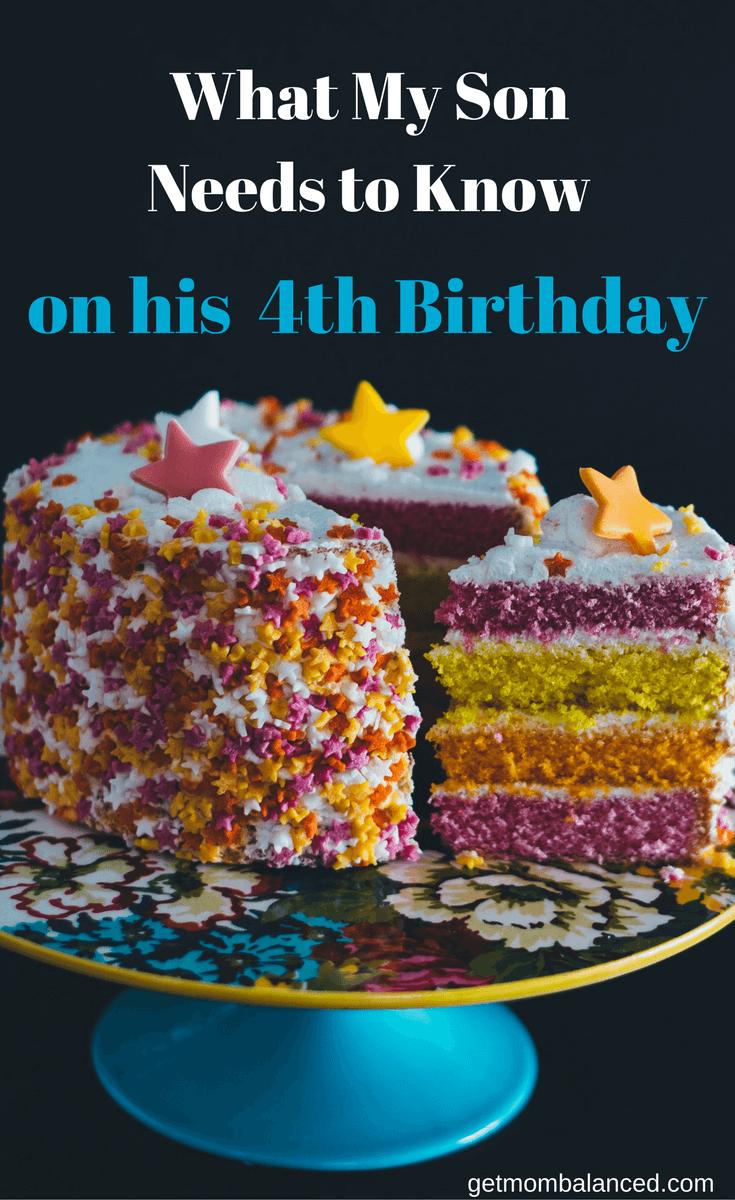 Happy 4th Birthday Son : happy, birthday, Letter, Birthday, Letters, Wishes, Kids,, Myself