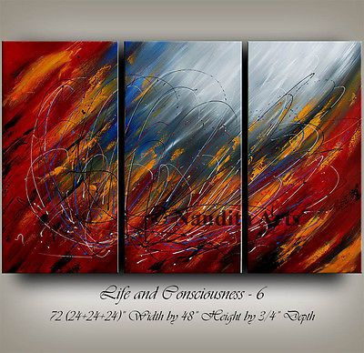 Abstract painting red art original modern wall gallery by nandita also rh pinterest